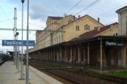 Hlavní nádraží z pohledu od druhého nástupiště