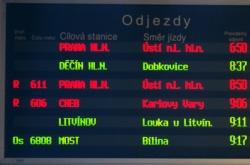 Zpoždění vlaků při sněhové kalamitě- prosinec 2010.