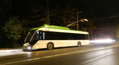 Jízda trolejbusu Solaris Trollino 12 nočními Teplicemi - 7. 10. 2014 - foto: © PETR BERÁNEK