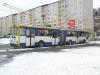 13. 12. 2010 - Kloubový trolejbus #202 na lince č. 7 odjíždí ze stanice Prosetice,škola | Zaslal: Jan Kodejška