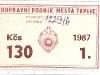 1987 - čtvrtletní kupon 130Kčs | © P. Beránek