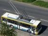 © J. Grill MHDTeplice.cz / 6.6.2010- Trolejbus Škoda 14TrM, ev.č. 158, jako mimořádná náhrada za historický trolejbus 9Tr, který se porouchal ještě před výjezdem z podniku. Na nostalgické lince 11, zastávka Topolová. Na lince 11, se v neděli 6.6.2010 vystřídali vozy: Škoda 14TrM- ev.č.163, který se později také porouchal a byl nahrazen ev.č. 158 a mohli jste potkat také Karosu- ev.č. 375