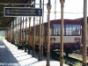 První nástupiště- Přistavený motorový osobní vlak do Litvínova.