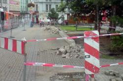 Rekonstrukce stanice Benešovo náměstí - srpen 2010