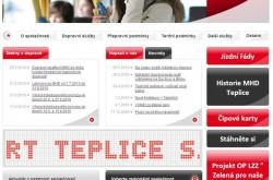 Nový web Veolia Transport Teplice.