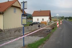 Přestavba zastávek ve Starých Srbicích.