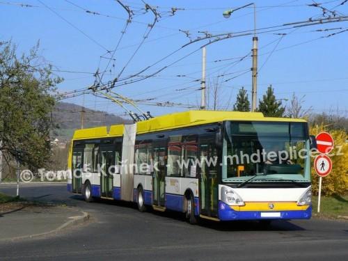 Fotomontáž - Ústecký trolejbus Škoda 25Tr v Teplických barvách | Tomáš Kořínek