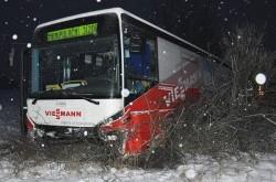 21. 1. 2013 - Nehoda autobusu #616 Duchcov | © Autor Teplický deník (Z. Traxler)
