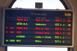 ilustrační foto - zpoždění vlaků - © MHDTeplice.cz