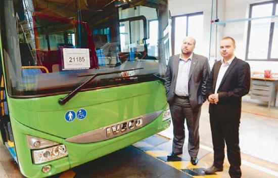 Kontrola autobusů při výrobě - Listy Ústeckého kraje říjen 2014