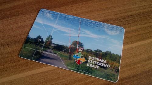 Bezkontaktní čipová karta integrovaného dopravního systému Doprava Ústeckého kraje